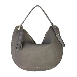 NWT Grey Suede Hobo Bag and XL Dust Bag